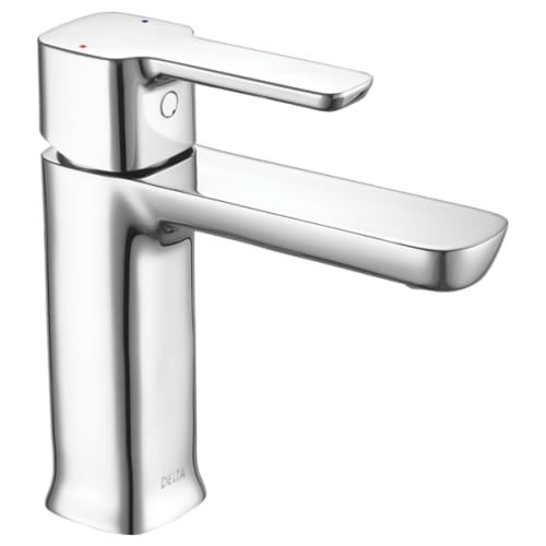Delta 581LF-HGM-PP Modern .5 GPM Single Hole Bathroom Sink Faucet with  50/50 Pop-up Drain - Free Shipping Today - Overstock.com - 23201037
