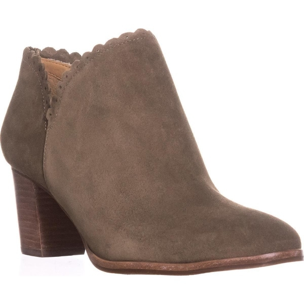 Jack Rogers Marianne Scalloped Low Rise Booties, Olive