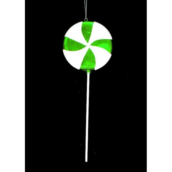 Large Candy Fantasy Green Apple Swirl Lollipop Christmas Ornament Decoration 22""