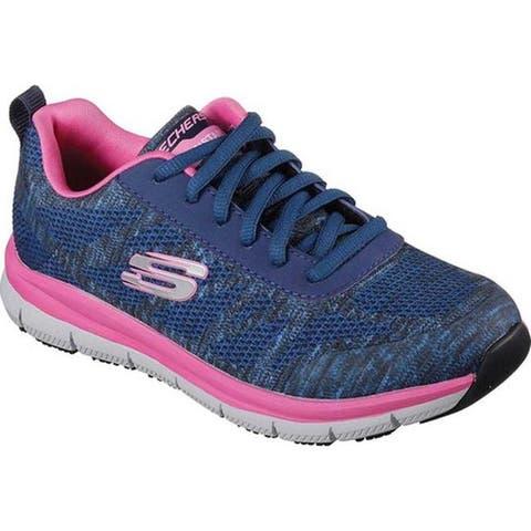 ea0a516f2e9 Skechers Women's Work Relaxed Fit Comfort Flex Pro HC SR Sneaker Navy/Pink