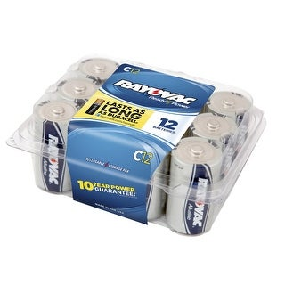 Rayovac Reclosable Pro Pack C Alkaline Batteries, Pack of 12