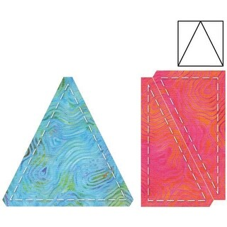 """GO! Fabric Cutting Dies-Triangles In Square 4"""" By Eleanor Bu - triangles in square 4"""" by eleanor burns"""