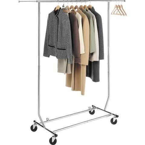 Whitmor 6339-1938 commercial garment rack rollin - Chrome