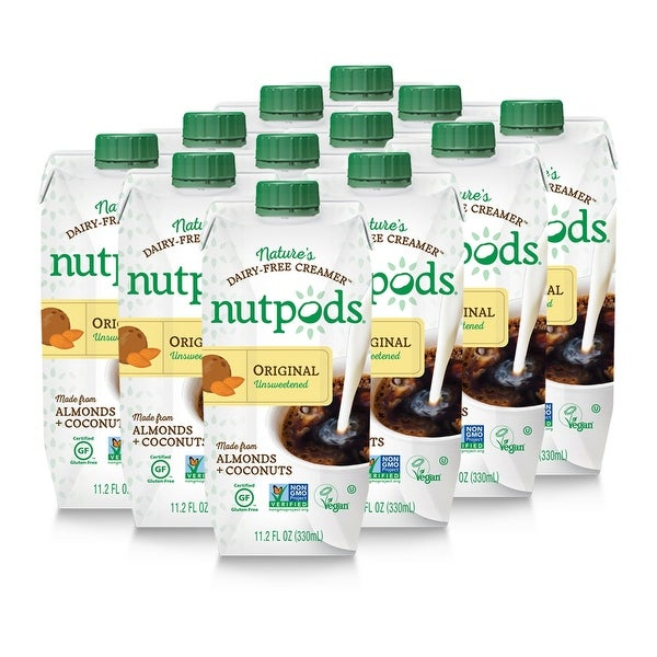 nutpods Dairy-Free Creamer Unsweetened (Original, 12-pack) - Whole30 Approved