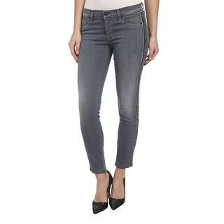 Hudson NEW Blue Women's Size 27X27 Cropped Skinny Stretch Jeans