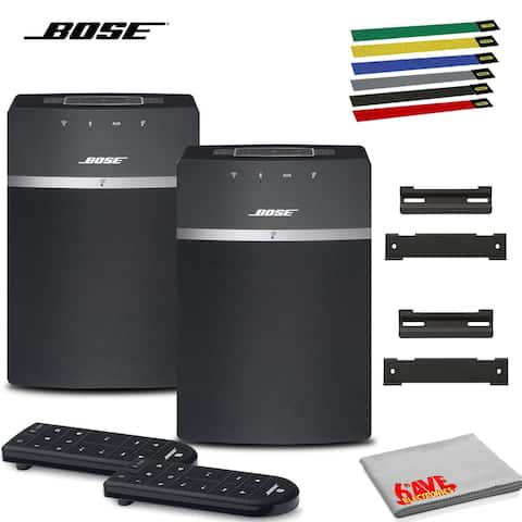 Bose SoundTouch 10 Wireless Music System (Black) 2-Pack