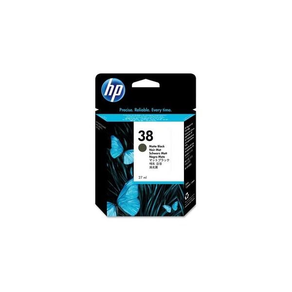HP 38 Matte Black Pigment Original Ink Cartridge (C9412A) (Single Pack)