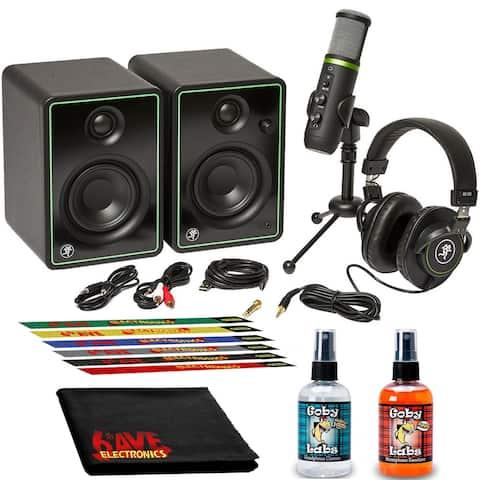 Mackie Creator Bundle with Monitors, Microphone, Headphones, and