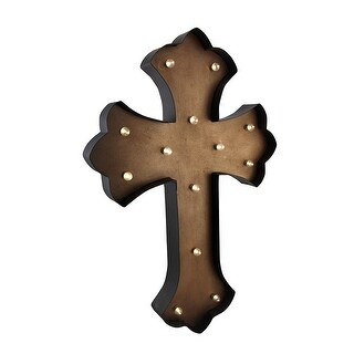 Tan LED Lighted Wall Mounted Cross 24 X 16