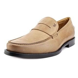 Tod's Mocassino Moda Boston Men Moc Toe Leather Tan Loafer
