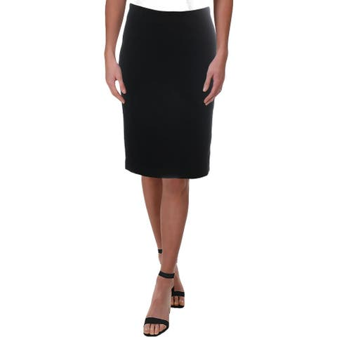 Philosophy Womens Pencil Skirt Knee-Length Professional - Black - XS