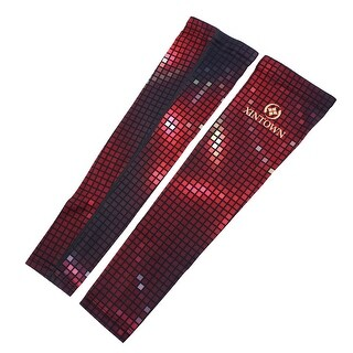 XINTOWN Authorized Grid Pattern Sports Elbow Brace Arm Sleeves Support S Pair