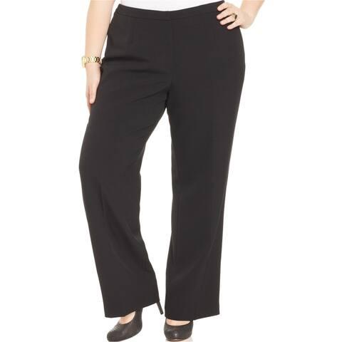 Kasper Womens Crepe Casual Trouser Pants