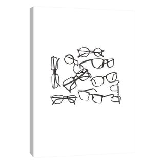 """PTM Images 9-105649  PTM Canvas Collection 10"""" x 8"""" - """"Glasses Jumble 1"""" Giclee Abstract Art Print on Canvas"""