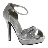 Touch Ups Women's Shelby Platform Sandal Silver Shimmer