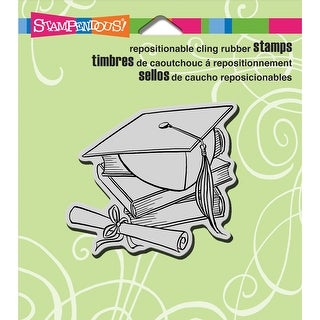 """Stampendous Cling Stamp 3.5""""X4"""" -Cap & Scroll"""