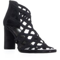 Impo Trudy Zip Up Block Heel Strappy Sandals, Black - 11 us