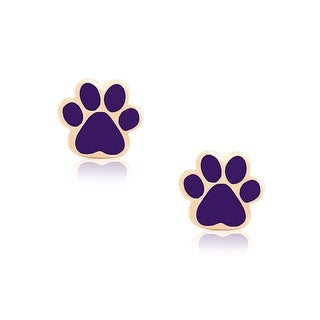 Lily Nily Girl's Musical Notes Stud Earrings - Purple