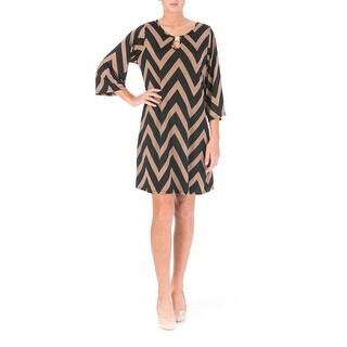 5th & Love Womens Matte Jersey Keyhole Neck Wear to Work Dress