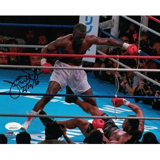 Buster Douglas AutographedSigned Boxing 8x10 Photo JSA