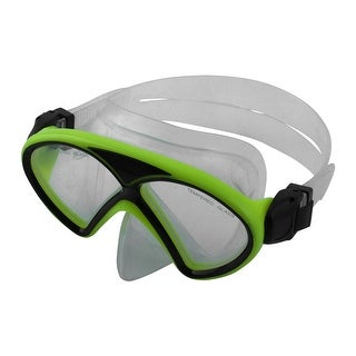 Water Sports Tempered Glass Lens Diving Swimming Mask Goggles Fluorescent Green