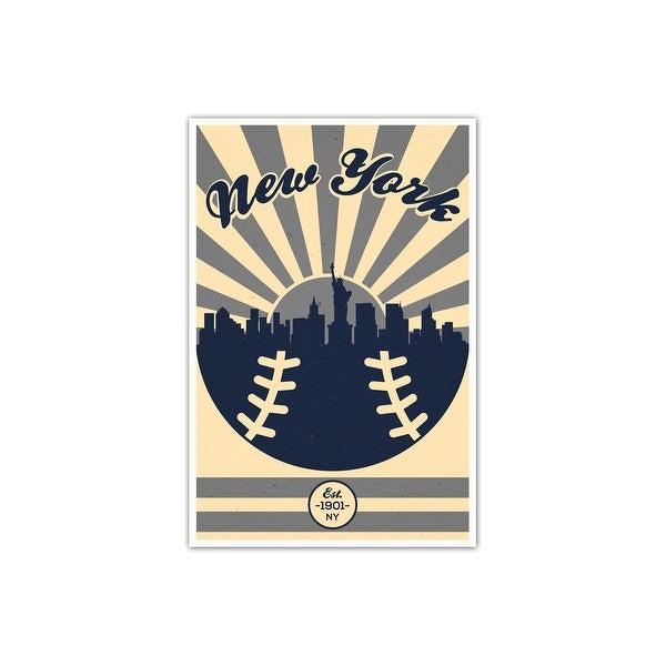 New York Yankees Vintage MLB Poster Matte Poster 16x24