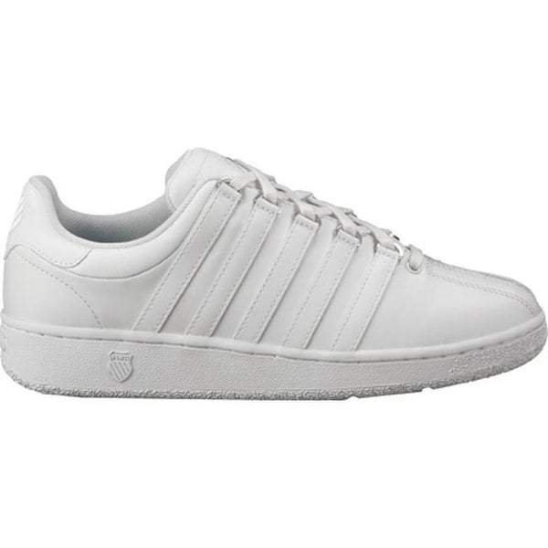 Shop K-Swiss Men s Classic VN White White - On Sale - Free Shipping Today -  Overstock - 9977730 2ae893b081a