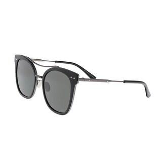 Bottega Venetta BV0064/S 001 Black Round Sunglasses - 53-20-140
