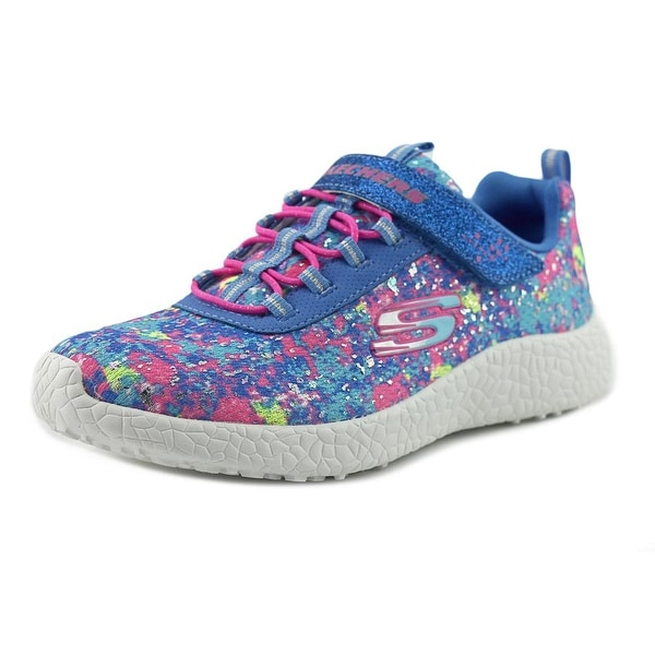 Skechers Burst Illuminations Youth Round Toe Synthetic Blue Sneakers