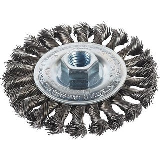 """Milwaukee Accessory 4""""Cable Twist Knot Wheel 48-52-5030 Unit: EACH"""