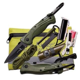 Master Cutlery Elk Ridge Green Survival Kit 5 X 4.25 - ER-PK4G