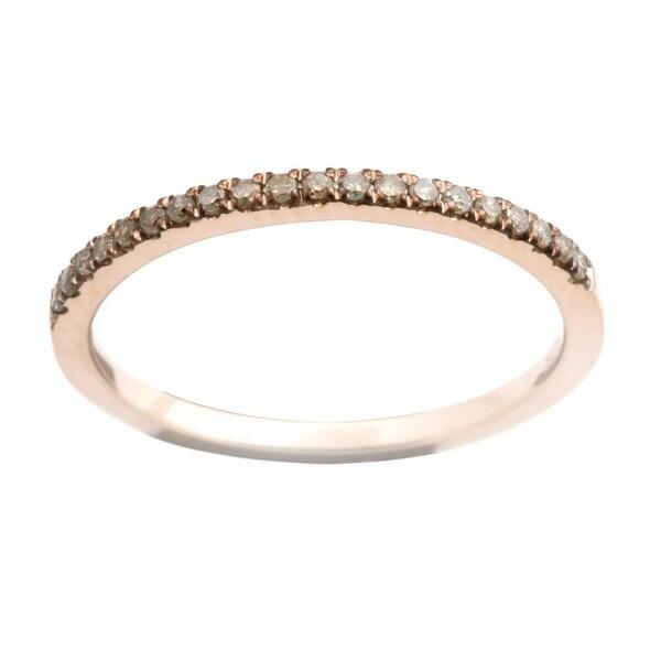 Brand New Round Brilliant Cut Real Brown Diamond Half Eternity Anniversary Ring.