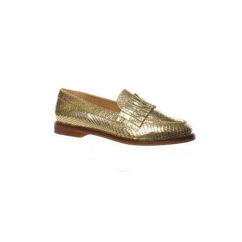 Seychelles Womens Powerful Gold Exotic Loafers Size 6
