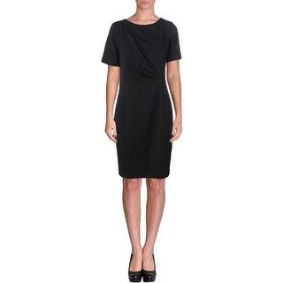 T Tahari Womens Madison Short Sleeves Knee-Length Wear to Work Dress