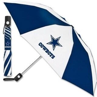 "Dallas Cowboys 42"" Automatic Folding Collapsible Umbrella Team Logo"