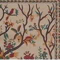 Handmade 100% Cotton Tree of Life Tapestry Tablecloth Bedspread Coverlet Beach Sheet Tan Twin Full Queen & King - Thumbnail 1