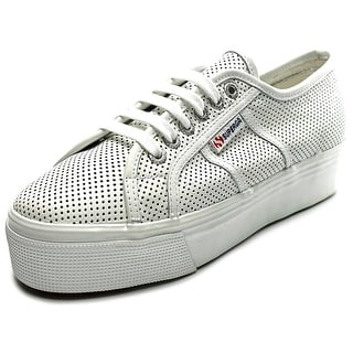 Superga 2790 Perfleaw Women Round Toe Leather White Sneakers