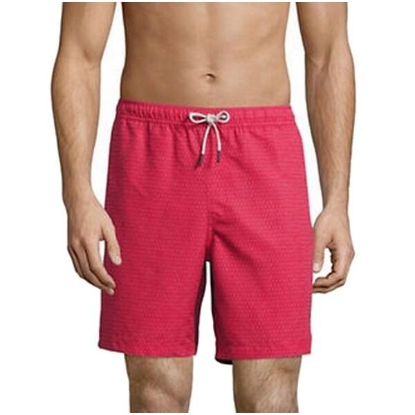 Michael Kors NEW Red Mens 2XL Board Surf Drawstring Polka-Dot Shorts