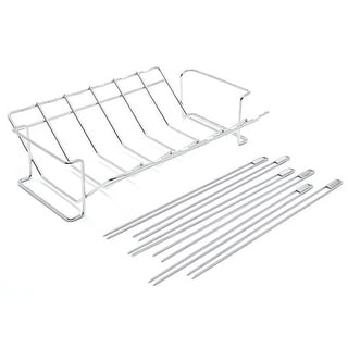 Broil King 64233 V Rack and Skewer Kit, Stainless Steel