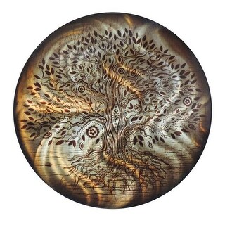 Next Innovations 24 in. Round Tree of Life Wall Art, Amber
