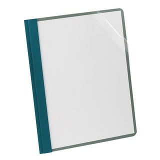 Oxford Clear Front Report Cover with Hole Fastener Insert, 8-1/2 X 11 Inches, Blue, Pack of 25