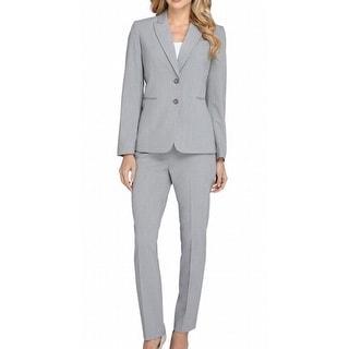Tahari By ASL NEW Gray Women's Size 16W Plus 2-Button Pant Suit Set