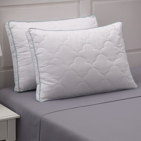 Cozy Classics Scallop Cloud Quilted Gusset Pillow (Set of 2)