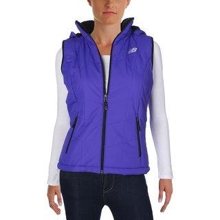New Balance Womens Outerwear Vest Faux Fur Quilted (2 options available)