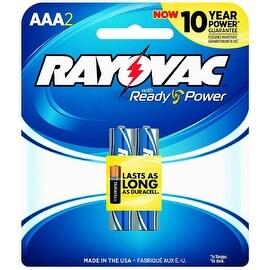 Rayovac AAA Alkaline Batteries 2 ea