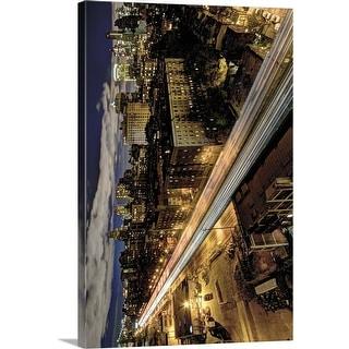"""Brooklyn Night, NYC"" Canvas Wall Art"