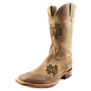 Nocona Notre Dame Branded Men 2E Square Toe Leather Western Boot