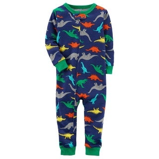 Carter's Baby Boys' 1-Piece Snug Fit Cotton Footless PJs - dinosaurs