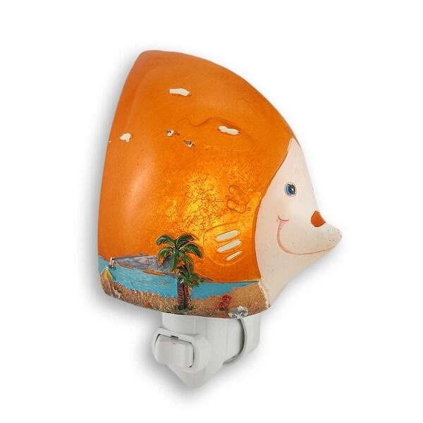 Tropical Fish Beach Themed LED Night Light - Orange
