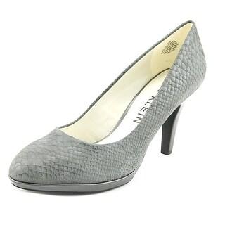 Anne Klein Lolana Women  Round Toe Leather Gray Heels